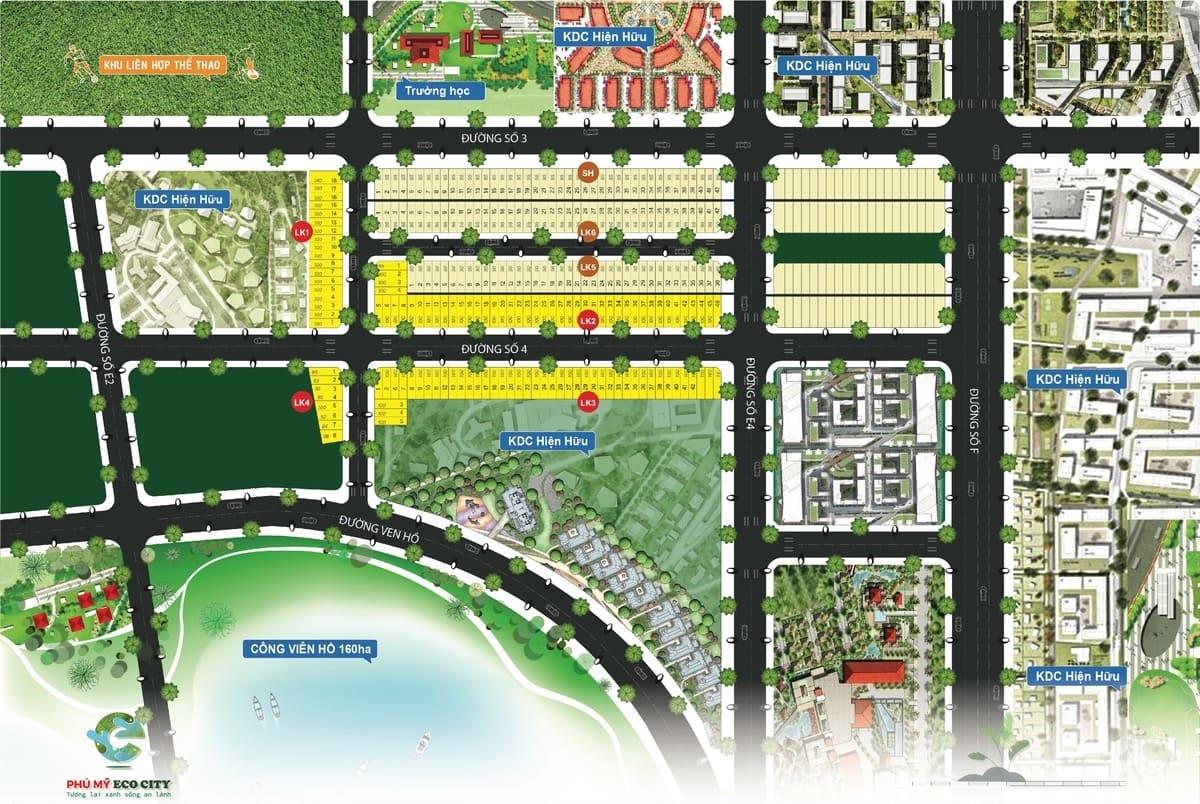 mặt bằng dự án phú mỹ eco city