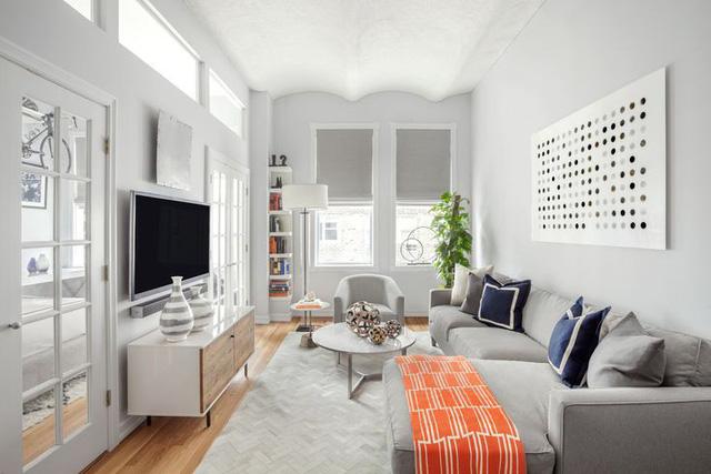 Những căn phòng đẹp sang trọng với sơn tường màu xám - Ảnh 3.