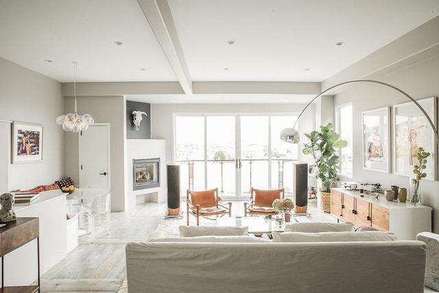 Những căn phòng đẹp sang trọng với sơn tường màu xám - Ảnh 6.