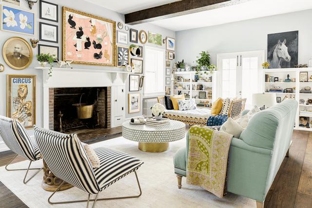 Những căn phòng đẹp sang trọng với sơn tường màu xám - Ảnh 9.