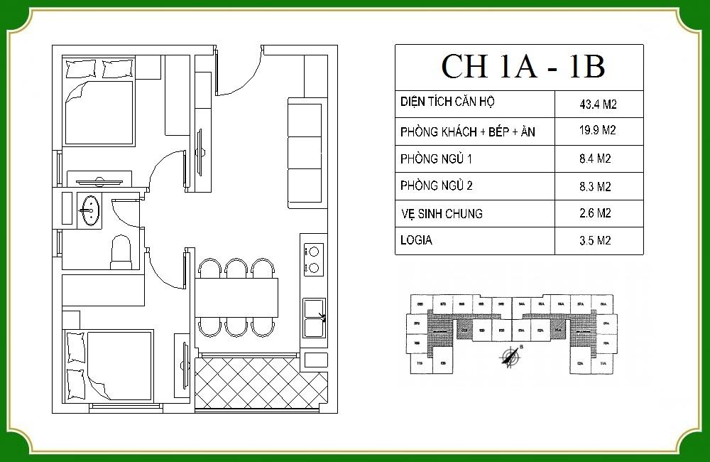 thiết kế căn hộ phương canh residence 1