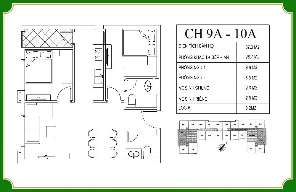 thiết kế căn hộ phương canh residence 10