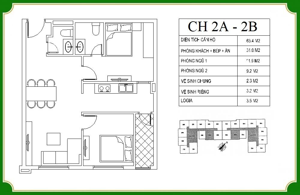 thiết kế căn hộ phương canh residence 2