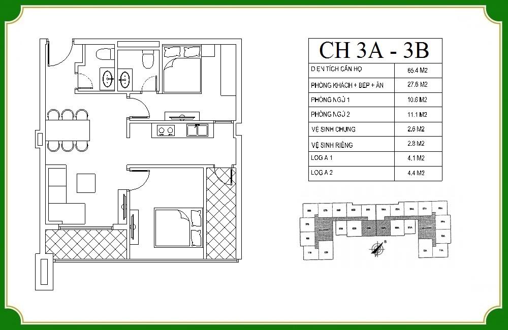thiết kế căn hộ phương canh residence 3
