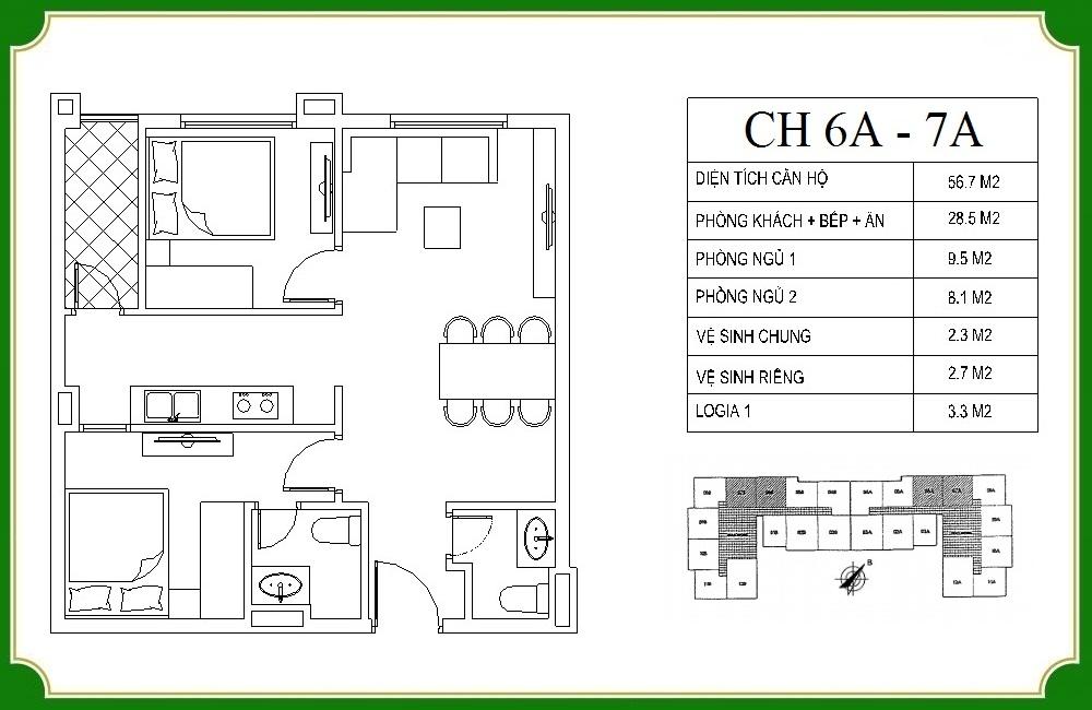 thiết kế căn hộ phương canh residence 6