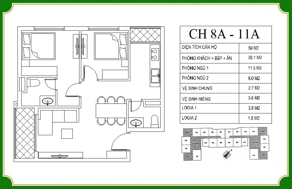 thiết kế căn hộ phương canh residence 8