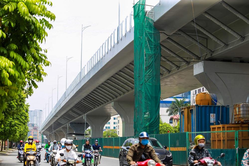 Cận cảnh đường vành đai 2 của Hà Nội sau 2 hơn năm thi công - Ảnh 8.