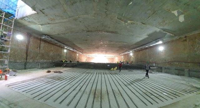 Thi công ga ngầm đường sắt đô thị Nhổn - Ga Hà Nội dưới độ sâu 19 m  - Ảnh 1.
