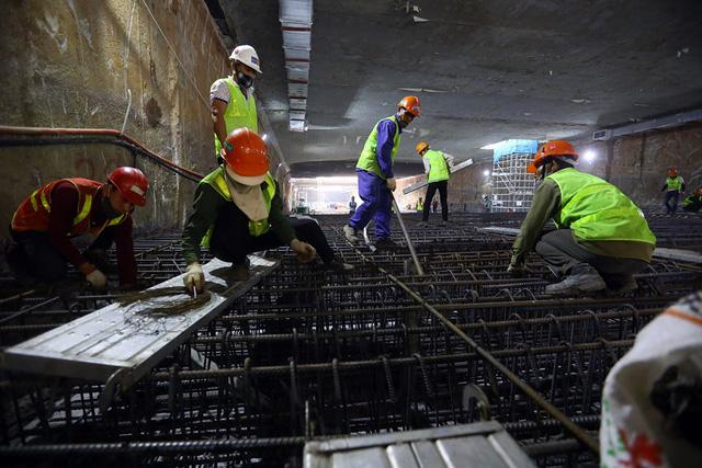 Thi công ga ngầm đường sắt đô thị Nhổn - Ga Hà Nội dưới độ sâu 19 m  - Ảnh 2.