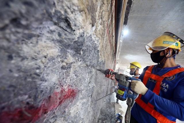 Thi công ga ngầm đường sắt đô thị Nhổn - Ga Hà Nội dưới độ sâu 19 m  - Ảnh 5.