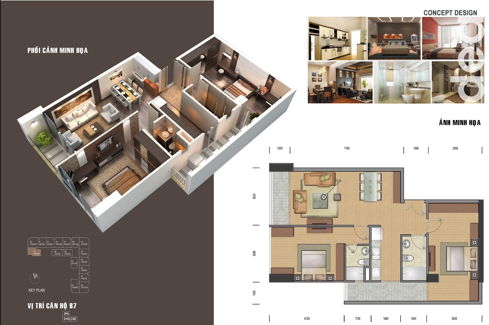 thiết kế chi tiết căn hộ 2
