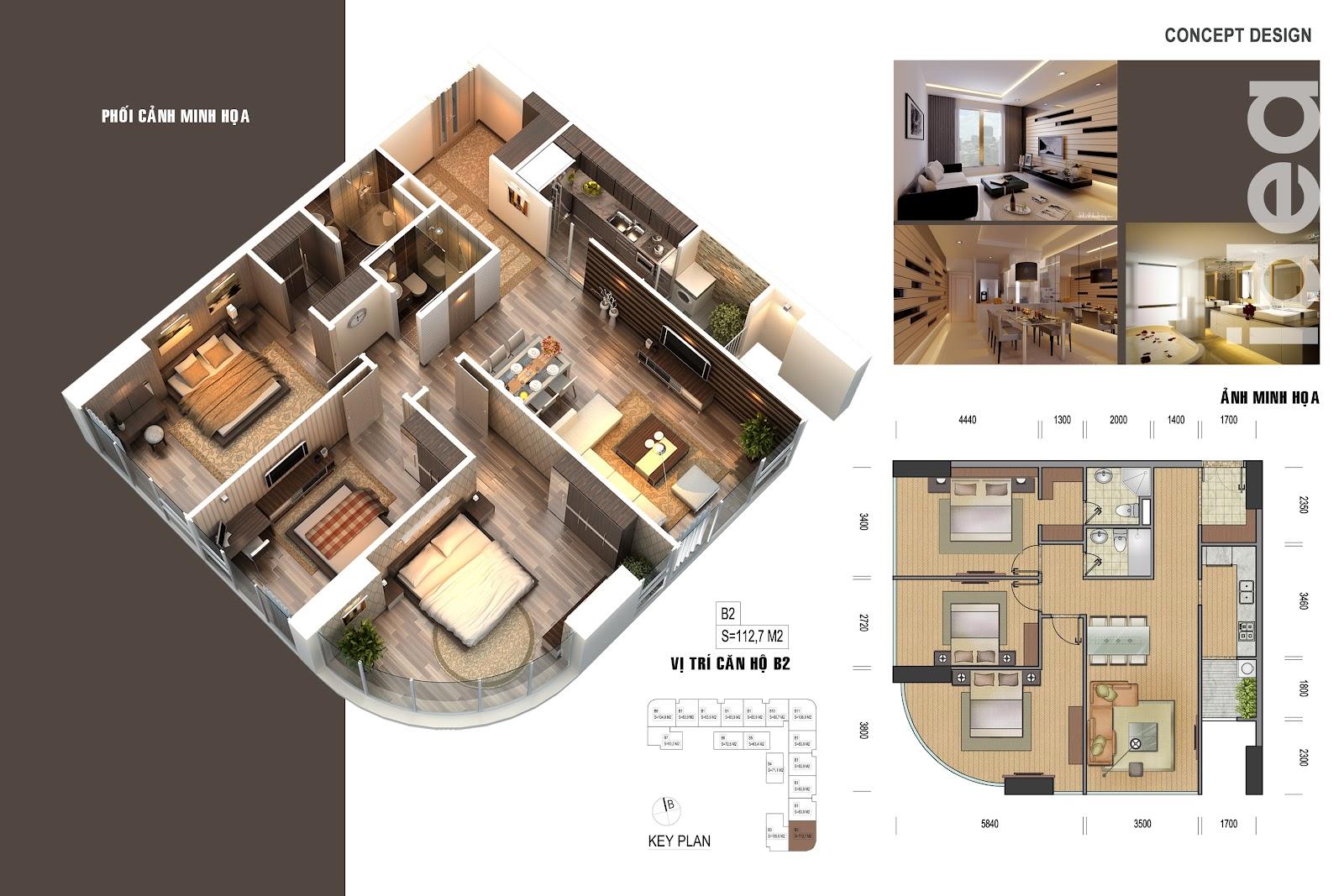 thiết kế chi tiết căn hộ 4