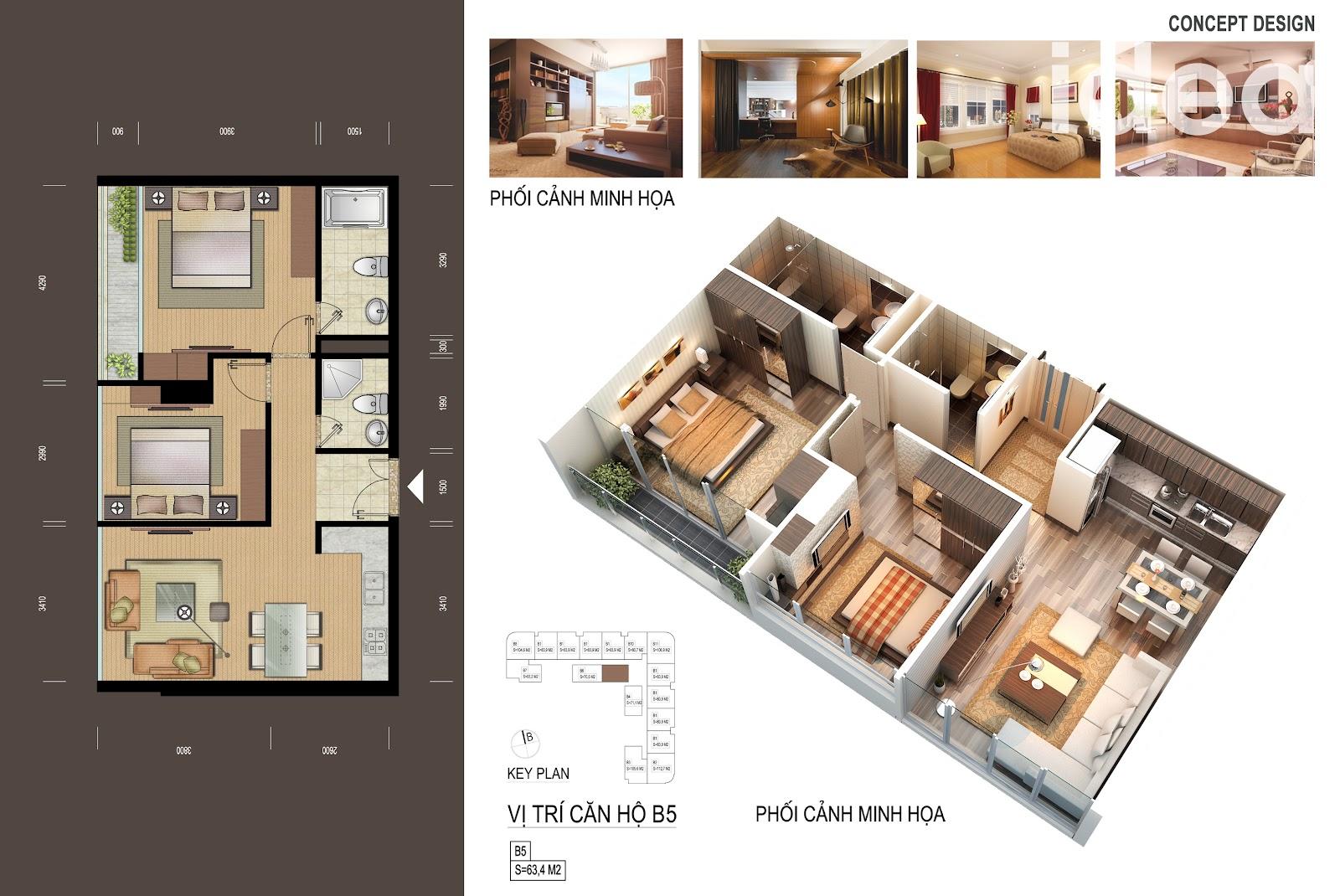thiết kế chi tiết căn hộ 8