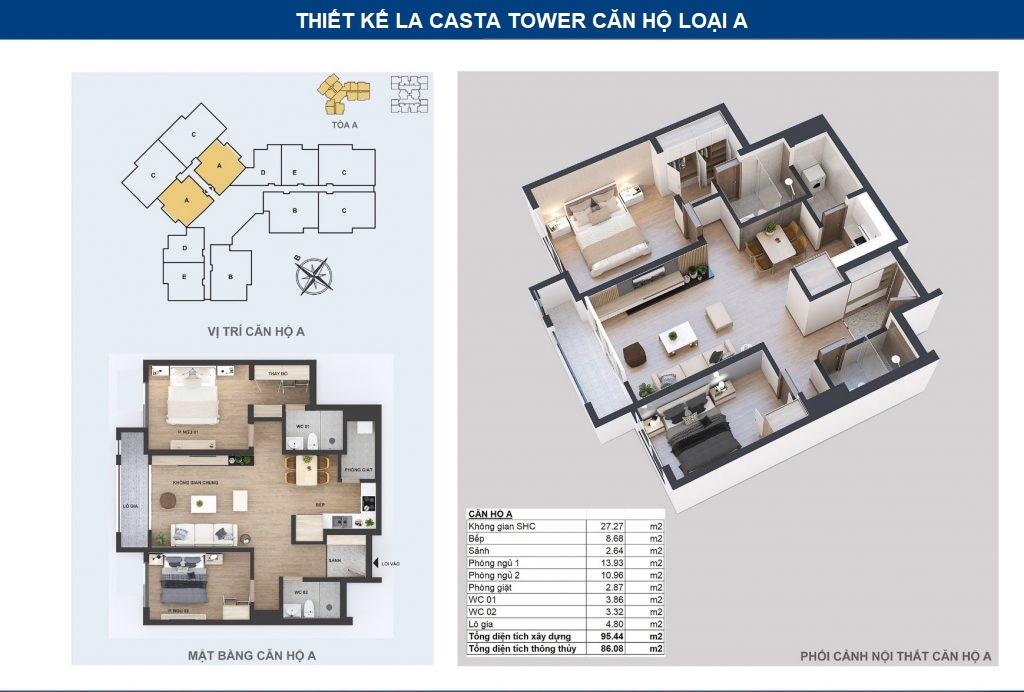 thiết kế chi tiết căn hộ a
