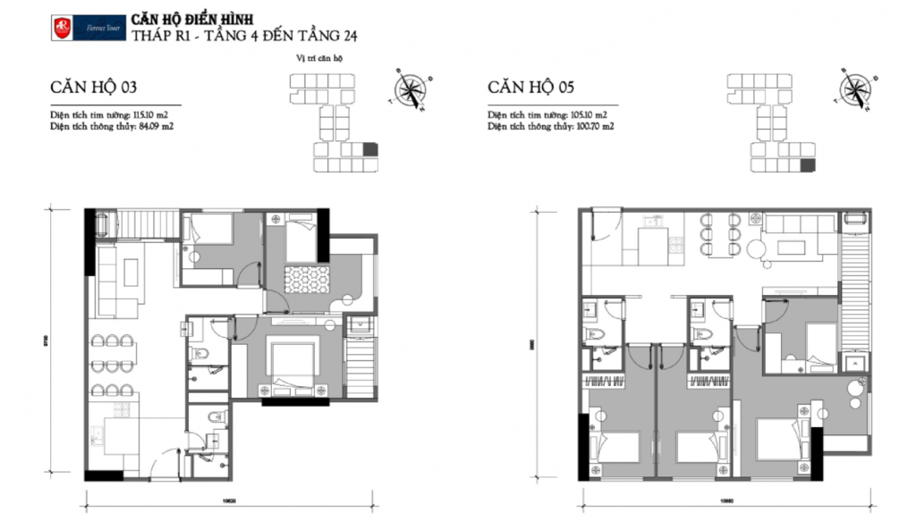 thiết kế căn hộ chung cư florence tower trần hữu dực