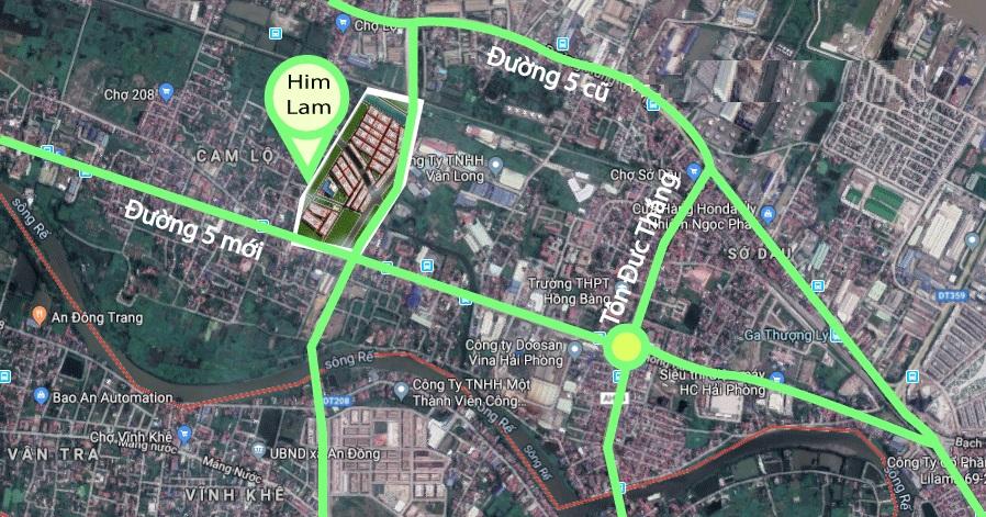 vị trí dự án him lam city gate