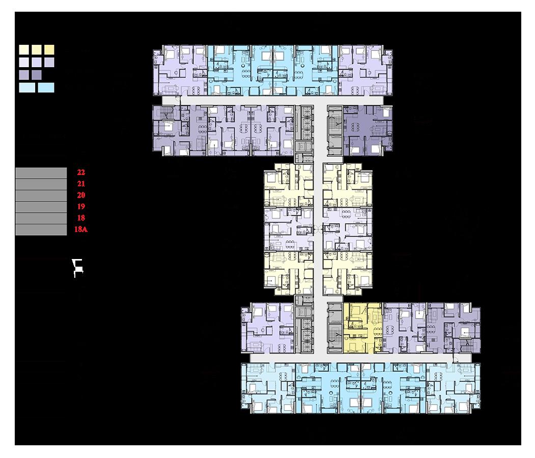 mặt bằng tầng 18a-22 chung cư florence tower