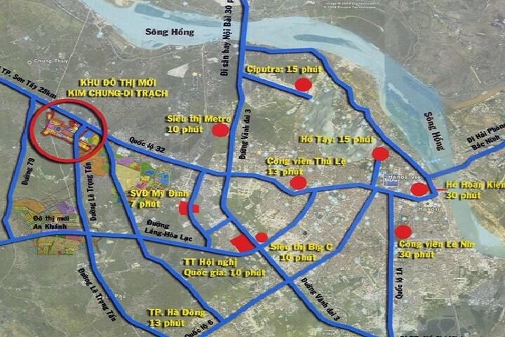 vị trí dự án hinode garden city