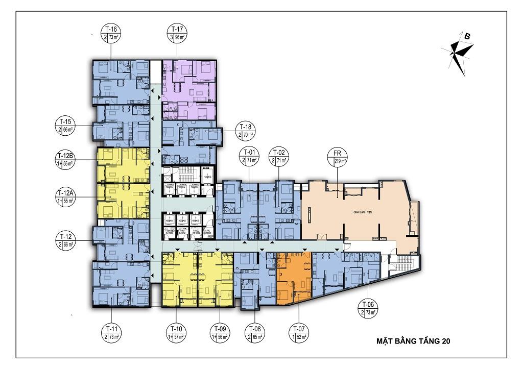 mặt bằng chung cư park view city tầng 20