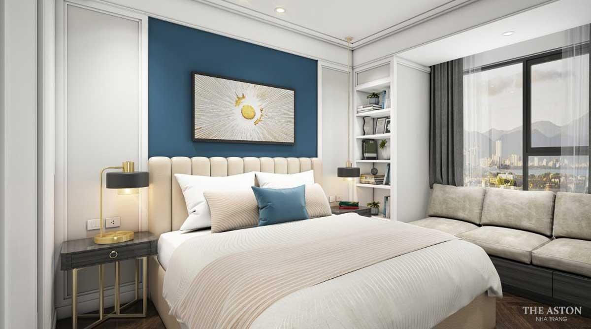 nội thất phòng ngủ căn hộ the aston