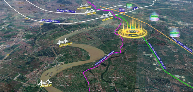Hà Nội triển khai hàng loạt cây cầu ven bờ sông Hồng tạo sức hấp dẫn cho bờ Đông? - Ảnh 1.