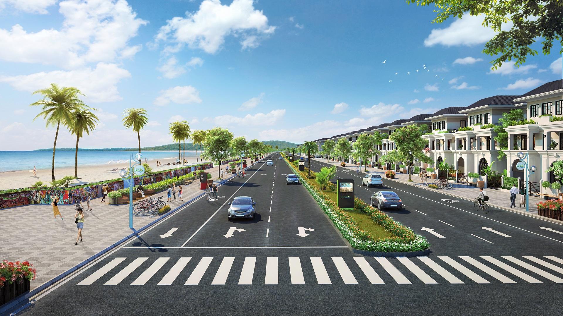 đường bao biển green dragon city